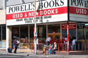Powells outside.