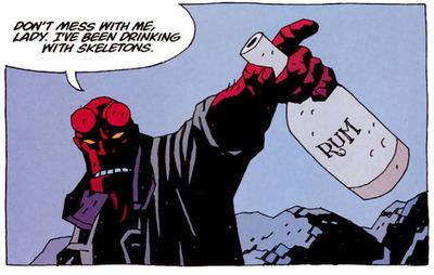 Hellboy drining