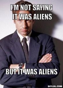 mulder aliens