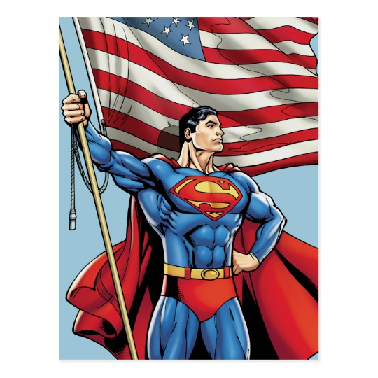 supes and flag