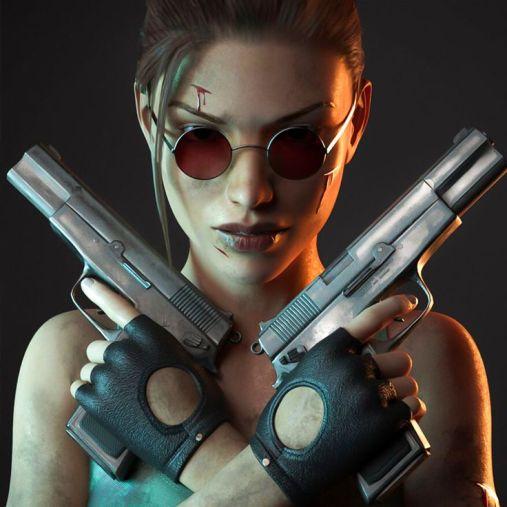 lara croft guns
